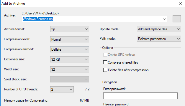 7-Zip for Windows 10 Screenshot 2