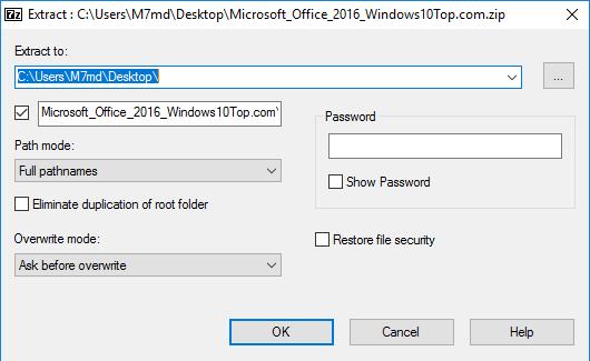 7-Zip for Windows 10 Screenshot 3