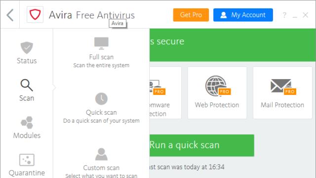 Avira Free Antivirus for Windows 10 Screenshot 2