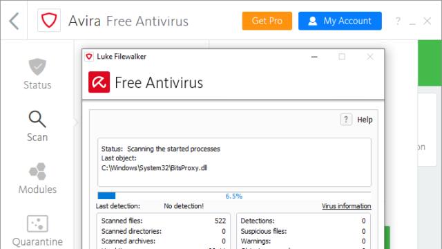 Avira Free Antivirus for Windows 10 Screenshot 3