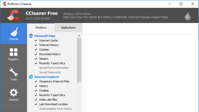 CCleaner for Windows 10 Screenshot 1