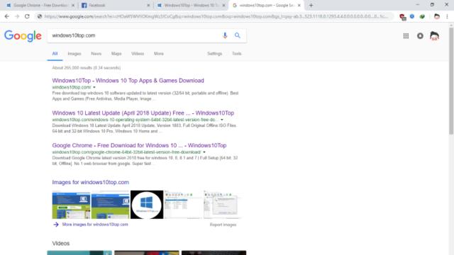 Google Chrome for Windows 10 Screenshot 2