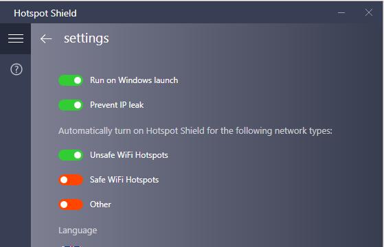 Hotspot Shield for Windows 10 Screenshot 3