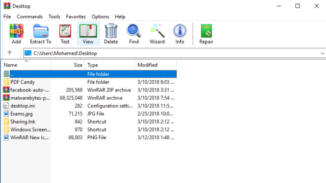 WinRAR for Windows 10 Screenshot 1