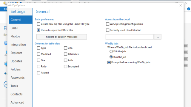 WinZip for Windows 10 Screenshot 2