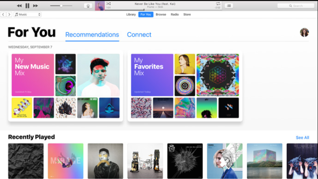 Apple iTunes for Windows 10 Screenshot 1