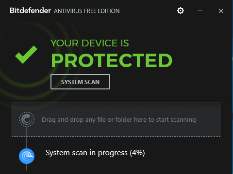 Bitdefender Antivirus Free Edition for Windows 10 Screenshot 1