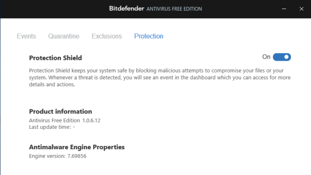 Bitdefender Antivirus Free Edition for Windows 10 Screenshot 3