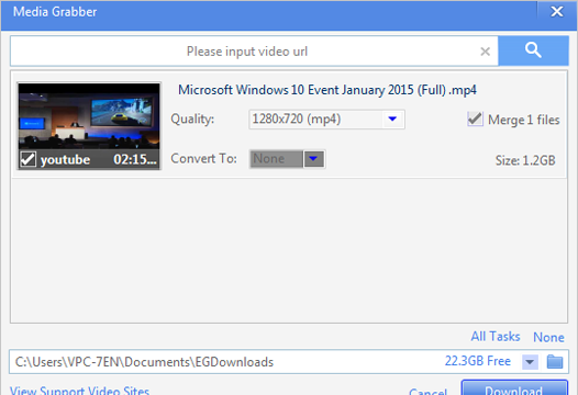 EagleGet for Windows 10 Screenshot 1