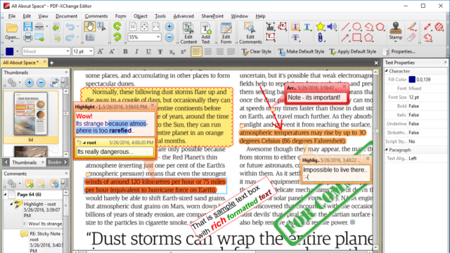 PDF-XChange Editor for Windows 10 Screenshot 2