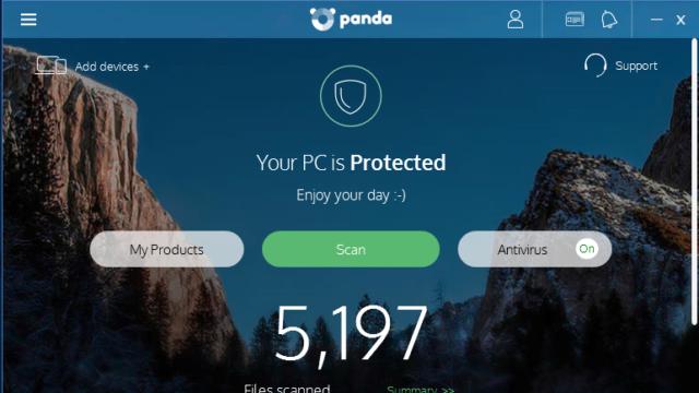 Panda Free Antivirus for Windows 10 Screenshot 1