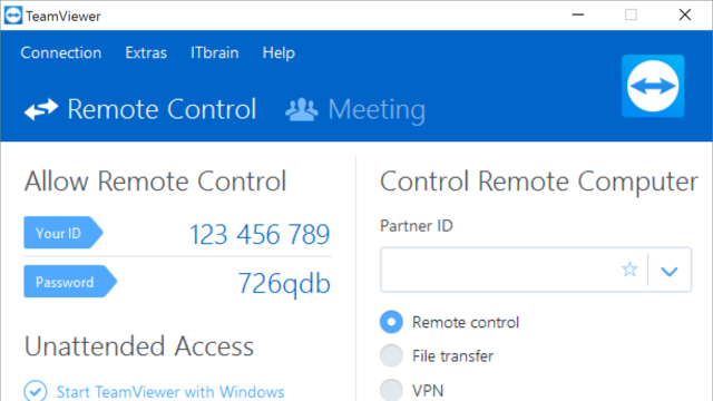 TeamViewer for Windows 10 Screenshot 1