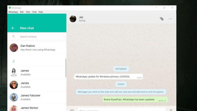 WhatsApp for Windows 10 Screenshot 1
