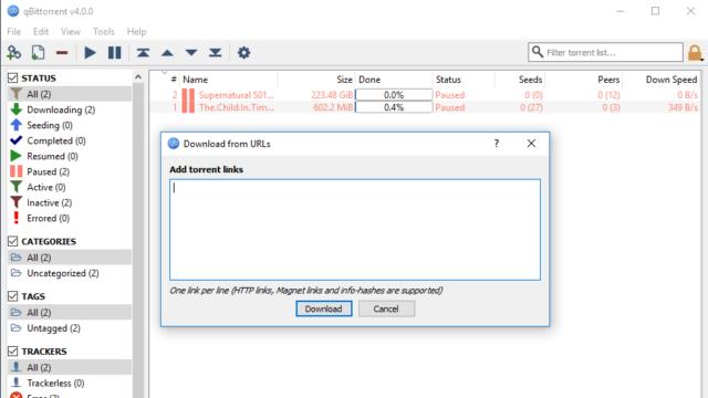 qBittorrent for Windows 10 Screenshot 2