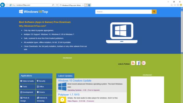 Internet Explorer 11 for Windows 10 Screenshot 1