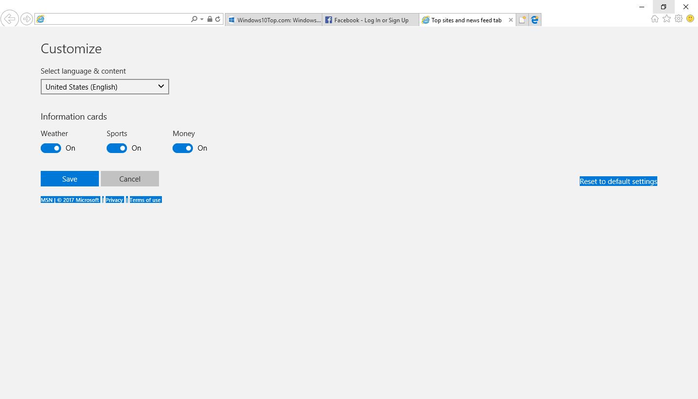 Internet Explorer Main Features