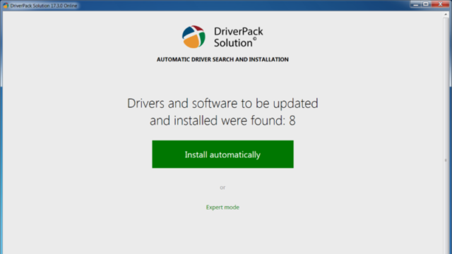 DriverPack Solution for Windows 10 Screenshot 1