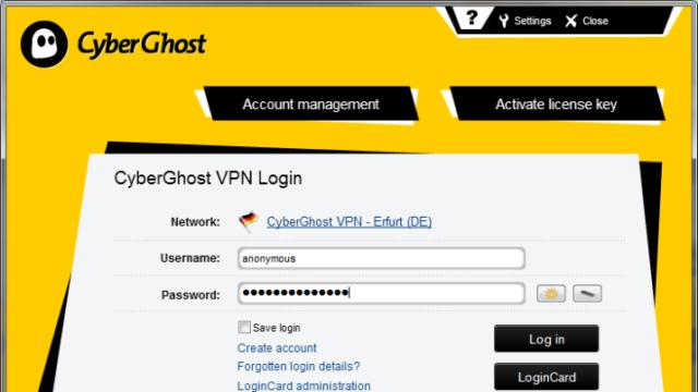 CyberGhost VPN for Windows 10 Screenshot 1