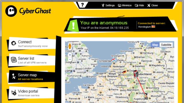 CyberGhost VPN for Windows 10 Screenshot 3