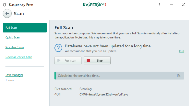 Kaspersky Free Antivirus for Windows 10 Screenshot 2