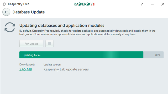 Kaspersky Free Antivirus for Windows 10 Screenshot 3