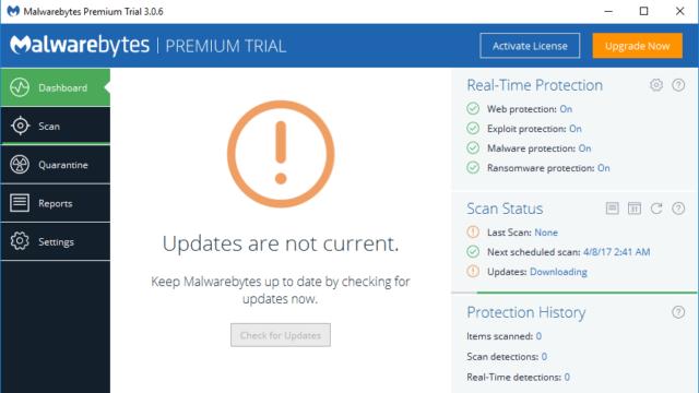 Malwarebytes for Windows 10 Screenshot 1