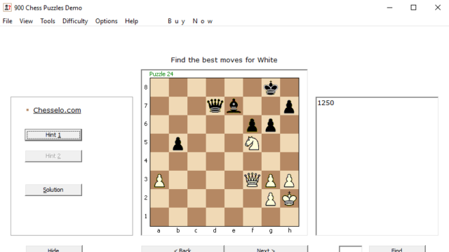 900 Chess Puzzles for Windows 10 Screenshot 1