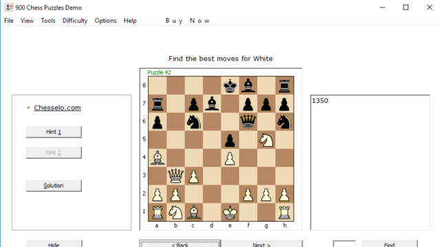 900 Chess Puzzles for Windows 10 Screenshot 2