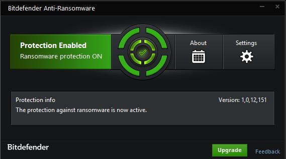 Bitdefender Anti-Ransomware for Windows 10 Screenshot 1