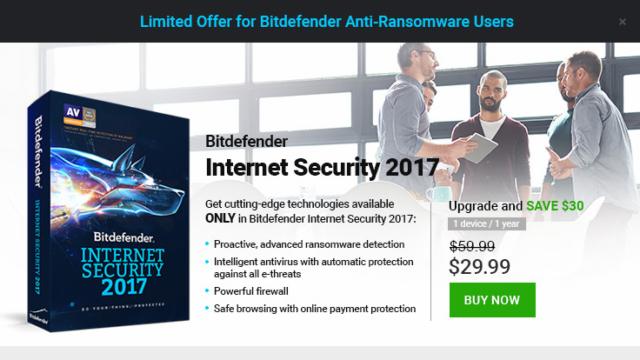 Bitdefender Anti-Ransomware for Windows 10 Screenshot 3