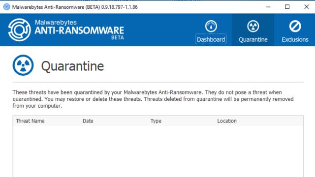 Malwarebytes Anti-Ransomware for Windows 10 Screenshot 2