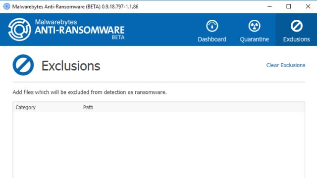 Malwarebytes Anti-Ransomware for Windows 10 Screenshot 3