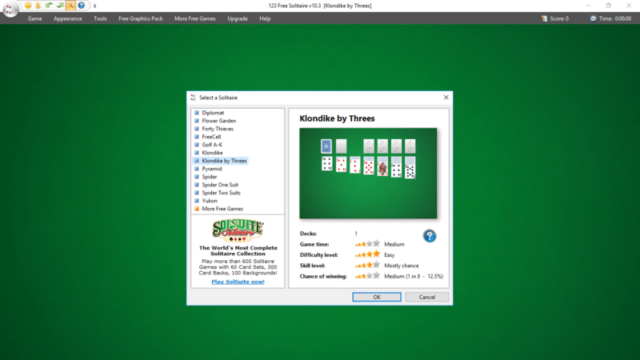 123 Free Solitaire for Windows 10 Screenshot 1