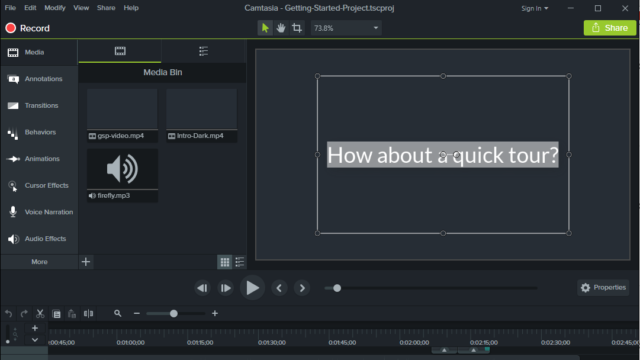 Camtasia Studio for Windows 10 Screenshot 1