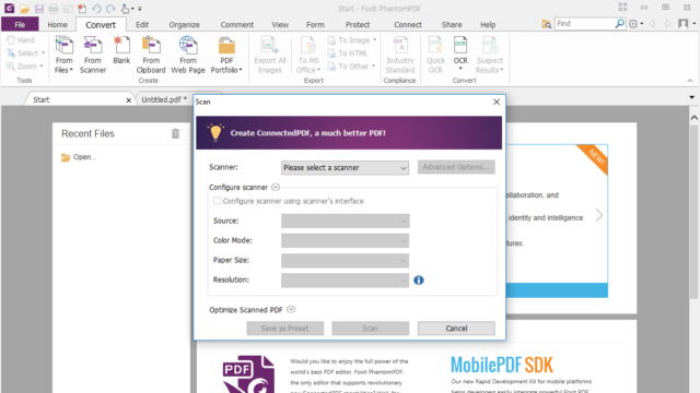 Foxit PhantomPDF for Windows 10 Screenshot 3