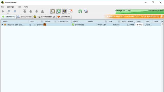 JDownloader for Windows 10 Screenshot 1