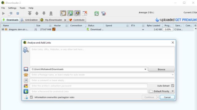 JDownloader for Windows 10 Screenshot 2