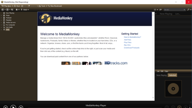 MediaMonkey for Windows 10 Screenshot 1