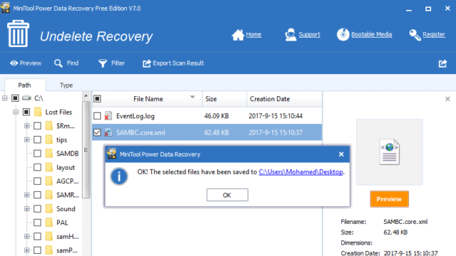 Download MiniTool Power Data Recovery Free (64/32 bit) for Windows 10 PC.  Free