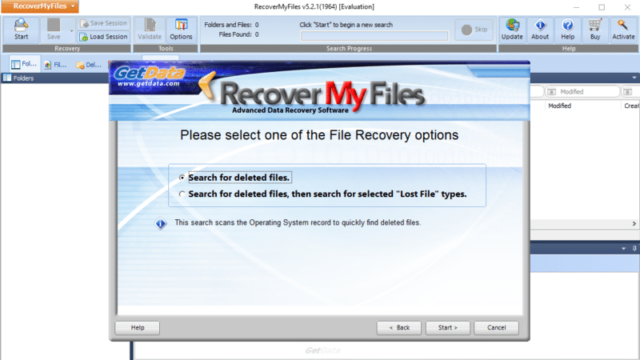 Download Recover My Files (64/32 bit) for Windows 10 PC. Free