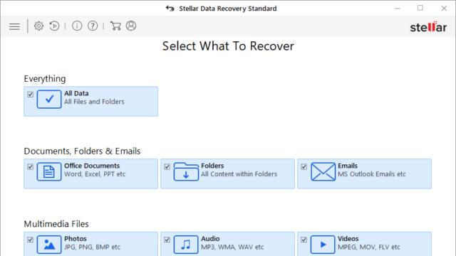 Stellar Data Recovery for Windows 10 Screenshot 1