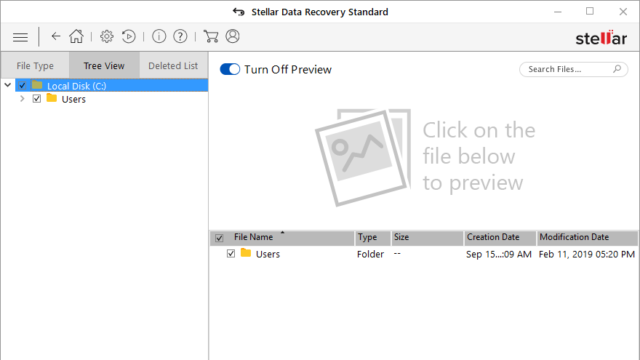 Stellar Data Recovery for Windows 10 Screenshot 2