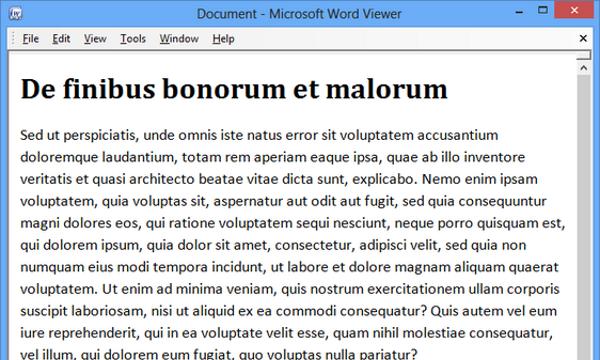 Microsoft Office Word Viewer for Windows 10 Screenshot 1