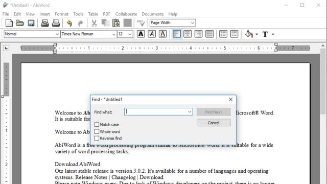 AbiWord for Windows 10 Screenshot 2