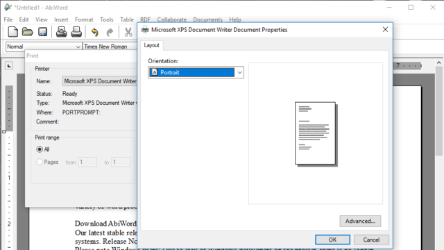 AbiWord for Windows 10 Screenshot 3