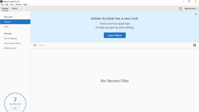 Adobe Acrobat Pro DC for Windows 10 Screenshot 1