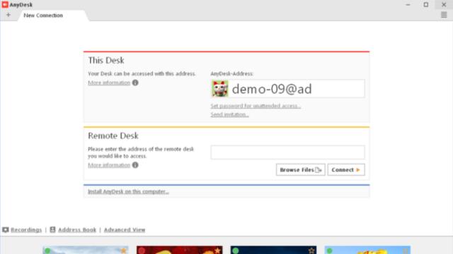 AnyDesk for Windows 10 Screenshot 1