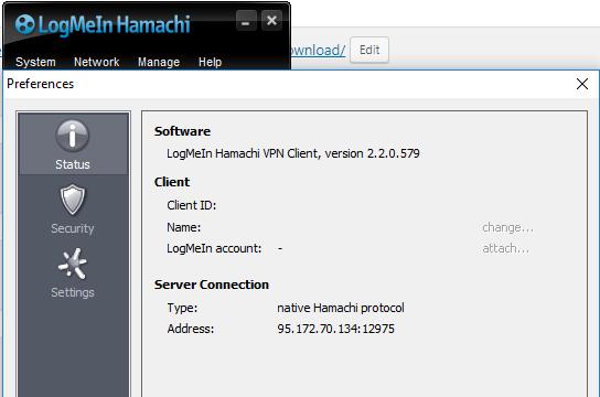 LogMeIn Hamachi for Windows 10 Screenshot 2