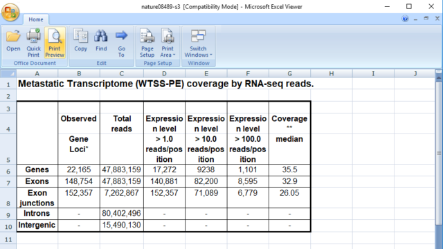 Microsoft Office Excel Viewer for Windows 10 Screenshot 1