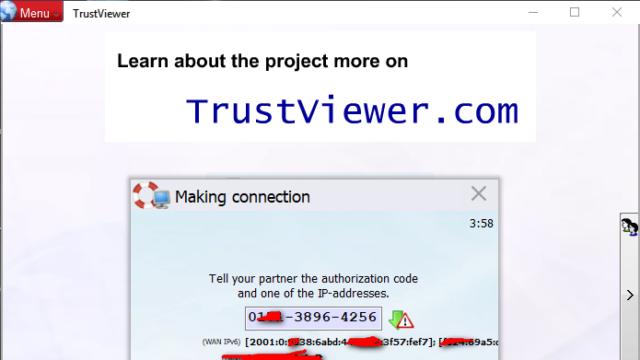 TrustViewer for Windows 10 Screenshot 2
